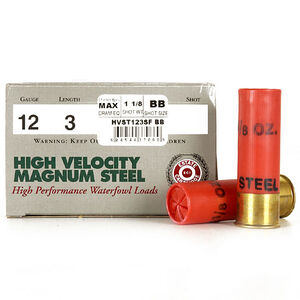 "Estate Cartridge High Velocity Magnum Steel 12 Gauge Ammunition 250 Rounds 3"" #BB Steel 1-1/8 oz 1500 fps"