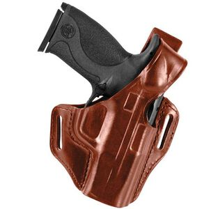 Bianchi #56 Serpent Holster SZ14 GLOCK 17/22/31 Right Hand Plain Tan Leather