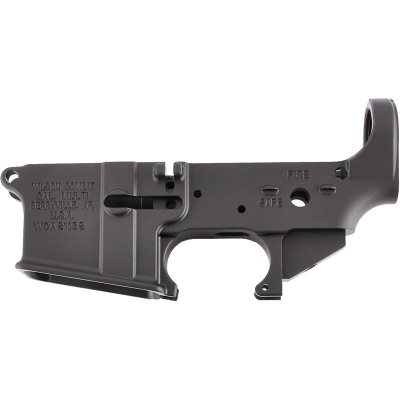 Wilson Combat Forged Mil-Spec AR-15 Stripped Lower Receiver Multi Caliber Marked 7075-T6 Aluminum Anodized Black