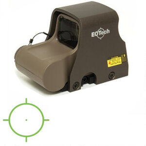 EOTech XPS2-0 Green Holographic Weapon Sight 65 MOA Circle and 1 MOA Dot Non Night Vision Compatible CR123 Battery Weaver/Picatinny Tan