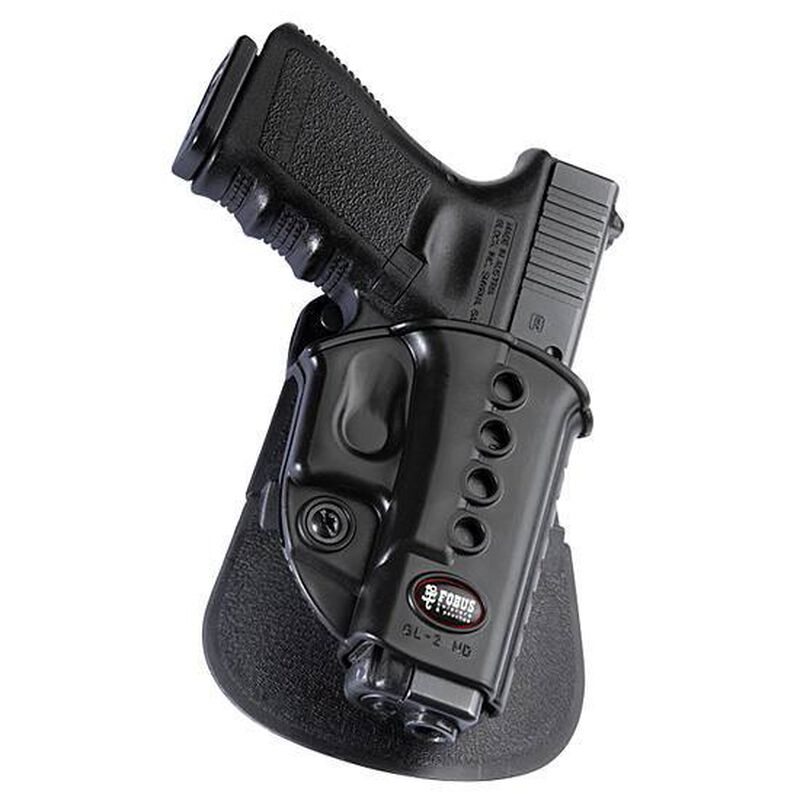 Fobus Evolution Roto Paddle Holster for GLOCK 17, 19 and 34 Polymer Black