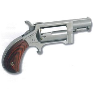 """North American Arms Sidewinder Single Action Revolver .22 WMR 1"""" Barrel 5 Rounds Wood Grips Stainless Finish NAA-SW"""