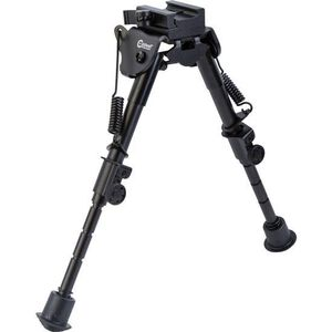 """Caldwell XLA Fixed Bipod 6"""" to 9"""" Height Forend Picatinny Rail Attachment Spring Loaded Legs"""
