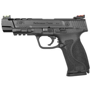 "S&W Performance Center M&P9 M2.0 5"" 9mm Semi Auto Handgun Ported Barrel 17 Rounds Hi-Vis Sights Black"