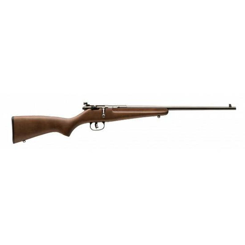 "Savage Rascal Bolt Action Youth Rifle .22 LR Single Shot 16.13"" Barrel Hardwood Stock Satin Finish 13815"
