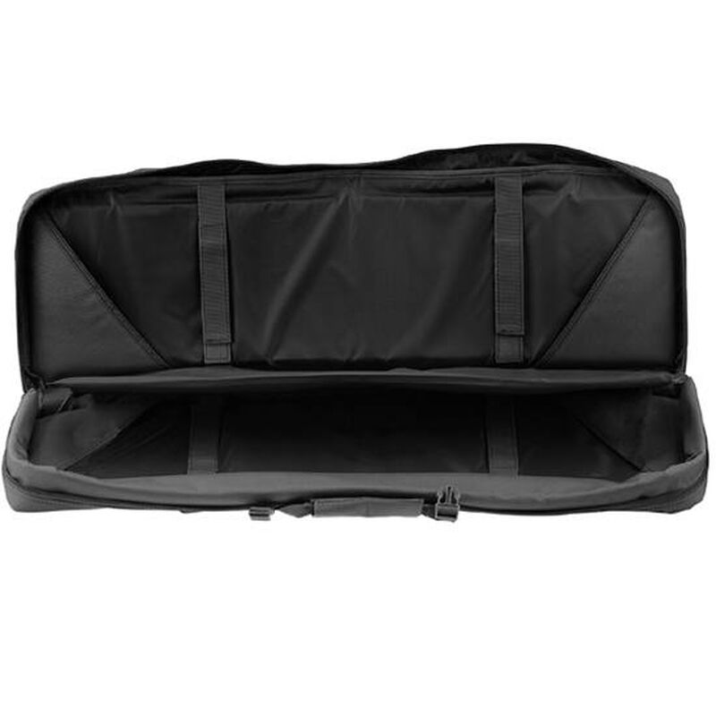 """Drago Gear 36"""" Double Gun Case Tactical Soft Case 600 Denier Nylon MOLLE Panels Matte Black"""