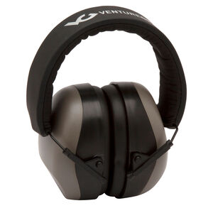 Pyramex VG80 Series Earmuff 25dB Noise Reduction Rating Adjustable Headband Black/Gray Accents
