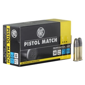 RWS Pistol Match .22 LR 40 Grain RN 50 Round Box