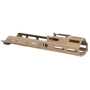 "Kinetic Development Group MREX MKII FN SCAR 4.25"" M-LOK Free Float Extended Hand Guard Rail System Magpul Flat Dark Earth"