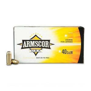 Armscor USA .40 S&W Ammunition 1,000 Rounds, FMJ, 180 Grains