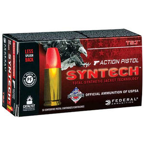 Federal Syntech Action Pistol .40 S&W Ammunition 50 Rounds 205 Grains Total Synthetic Jacket 830fps