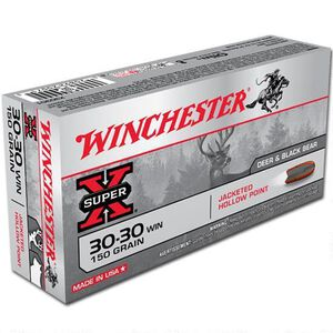 Winchester Super X .30-30 Winchester Ammunition 200 Rounds JHP 150 Grains X30301