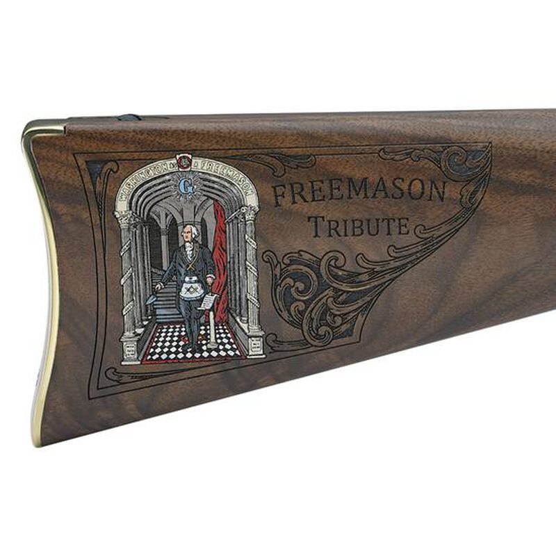 "Henry Golden Boy Freemasons Tribute Edition .22 LR Lever-Action Rifle, 20"" Barrel, 16 Rounds, Blued Steel/Walnut"