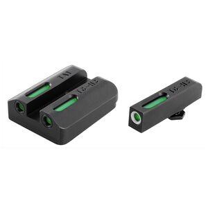 TRUGLO Tritium Pro Kimber 1911 Models with Fixed Rear Sight Night Sight Set Green Tritium 3-Dot Configuration Front White Focus Lock Ring Steel Black