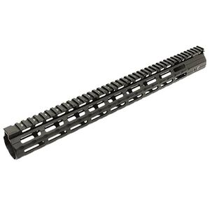 "Leapers UTG PRO LR-308 Super Slim Free Float Hand Guard 17"" M-LOK Aluminum Black MTU038SSMC"