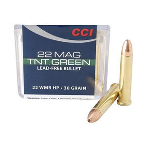 CCI TNT Green .22 WMR Ammunition 50 Rounds JHP 30 Grain 2,050 Feet Per Second