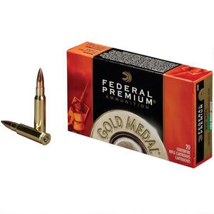 Federal Gold Medal .338 Lapua Ammunition 20 Rounds 300 Grain Sierra Match King Boat Tail Hollow Point