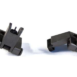 JE Machine 45º Degree Offset Polymer Flip-up Front and Rear Sights