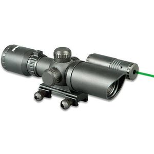 Firefield 1.5-5x32mm Red and Green Illuminated Reticle Rifle Scope With Green Laser Weaver Mount