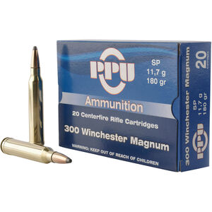 Prvi Partizan PPU Standard .300 Win Mag Ammunition 20 Rounds 180 Grain SP 2905fps