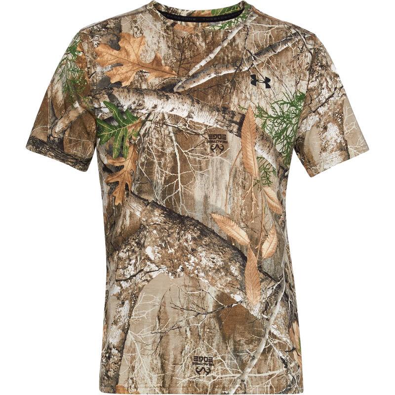 Under Armour Threadborne Early Season Men's Short Sleeve T-Shirt Microthread Polyester Fabric Moisture Wicking Realtree Edge Camo