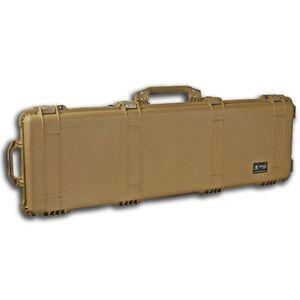 "Pelican 1750 Protector Wheeled Rifle Case 53"" Foam Interior Polymer Tan 1750-000-190"