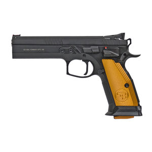 "CZ 75 Tactical Sport Orange .40 S&W Semi Auto Pistol 5.23"" Barrel 16 Rounds Steel Frame Aluminum Orange Grips Matte Black"