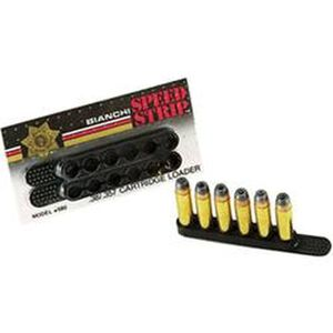 Bianchi .44/.45 Caliber Speed Strips, Six Rounds, Black, Two Pack