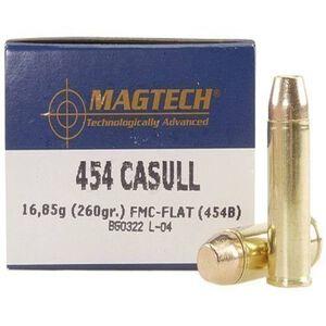 Magtech .454 Casull Ammunition 20 Rounds, FMJFP, 260 Grain