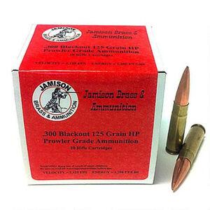 Jamison .300 AAC Blackout Ammunition 20 Rounds JHP 125 Grains 200BLK-125PRL