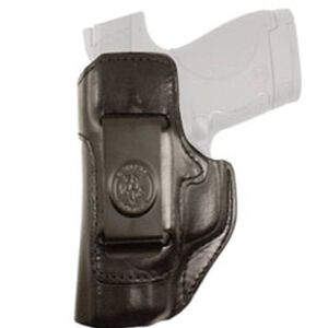 DeSantis Inside Heat GLOCK 19/23 Inside Waistband Holster Left Hand Leather Black 127BBB6Z0