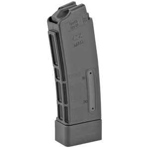 CZ Scorpion EVO 3 20 Round Magazine 9mm Luger Windowed Polymer Matte Black Finish