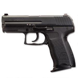 """H&K P2000 V3 9mm Pistol, 5.59"""" Barrel 10 Rounds, Polymer Frame Black"""