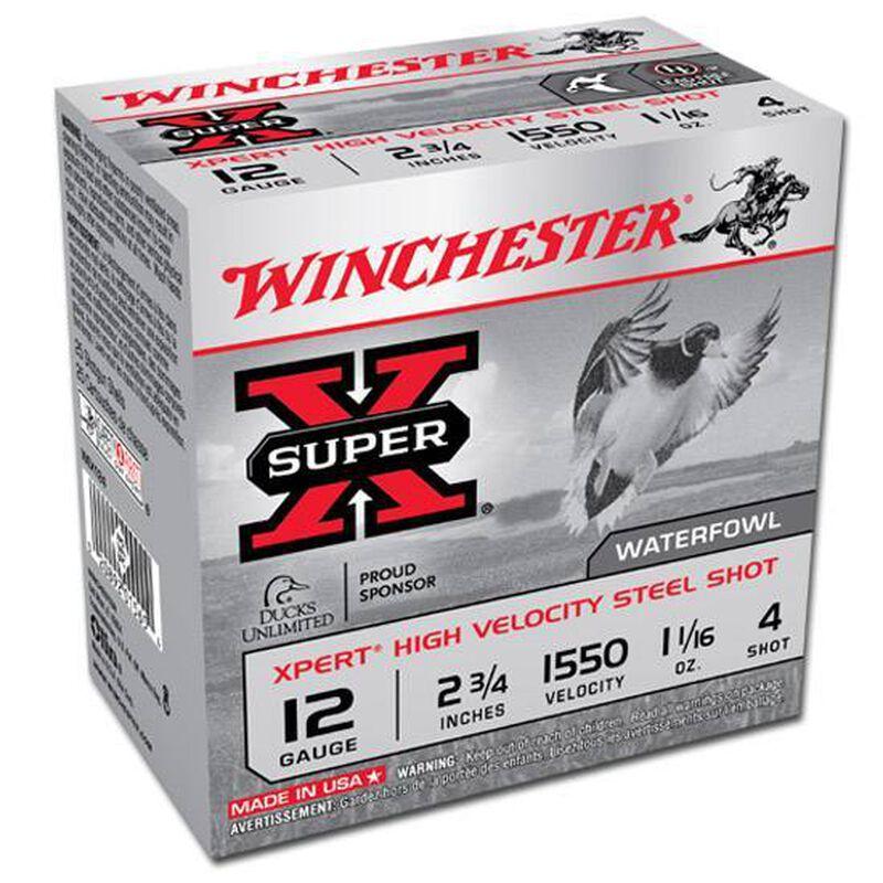 "Winchester Super X 12 Gauge Ammunition 25 Rounds, 2.75"", Steel #4"