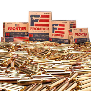 Hornady Frontier 5.56 NATO Ammunition 1000 Round Bulk Case Loose Packed FMJ 55 Grains