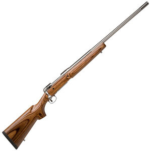 "Savage Model 12 VLP DBM Bolt Action Rifle .223 Rem 26"" Stainless Barrel 4 Rounds AccuTrigger Laminated Wood Stock Satin Stainless Finish 18465"