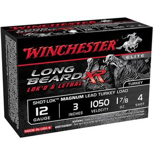 "Winchester Long Beard XR 12 Ga 3"" #4 Lead 1.875oz 10 rds"