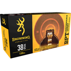 Browning .38 Special Ammunition 500 Rounds FMJ 130 Grains