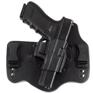 Galco KingTuk GLOCK 17, 19, 26, 22, 23, 27, 31, 32, 33 IWB Holster Left Hand Leather/Kydex Black KT225B