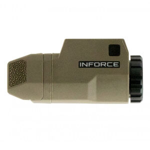 INFORCE APLc Compact GLOCK Rail Mounted LED Tactical Light 200 Lumen Flat Dark Earth