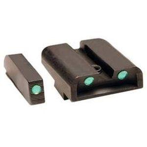 TRUGLO GLOCK 9mm/.40S&W/.357 SIG/.45 GAP Brite Site Tritium Night Sights Green Front/Rear CNC Machined Steel Black TG231G1