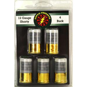 """Exotic Shorty 12 Gauge Mini Ammunition 5 Rounds 1.75"""" #4 Lead Buck 14 Pellets 00514"""