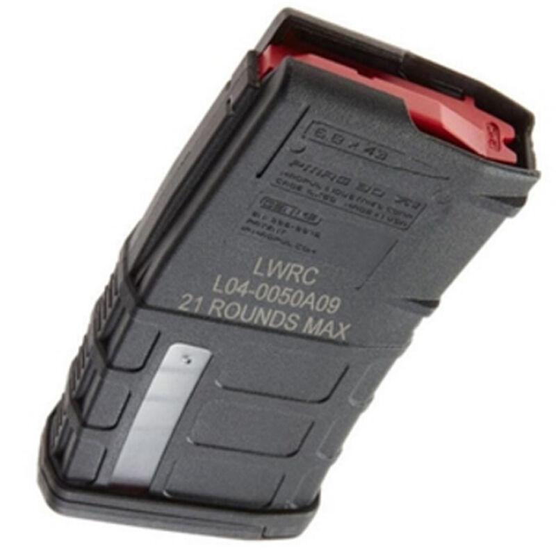 Magpul PMAG Windowed LWRC Six8 Magazine 6.8mm Remington SPC 20 Rounds Polymer Black
