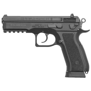 "CZ 75 SP-01 Phantom Semi Auto Pistol 9mm Luger 4.6"" Barrel 18 Rounds Picatinny Rail Polymer Frame Matte Black"