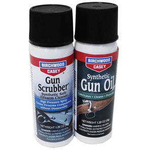 Birchwood Casey Gun Scrubber and Synthetic Gun Oil Combo Pack 1.25oz