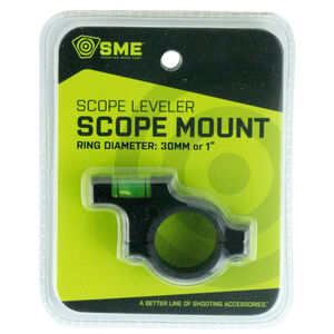 "GSM Outdoor/SME Bubble Level Anti-Cant Scope Leveling Device 30mm/1"" Tube Compatible Matte Black Finish"