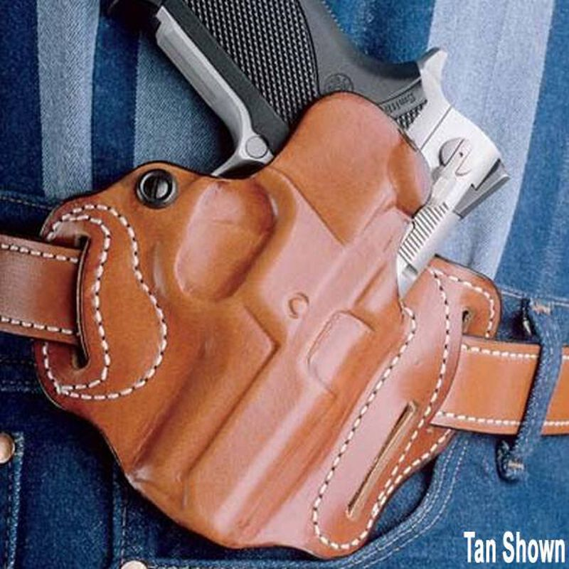 DeSantis Gunhide Speed Scabbard GLOCK 20, 21, 39, 30 Belt Holster Right Hand Leather Black DSG002BAN7Z0