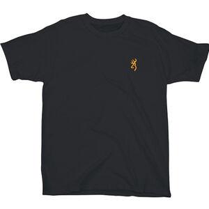 Browning Mens Buckmark Logo Short Sleeve T Shirt Cotton Black Small