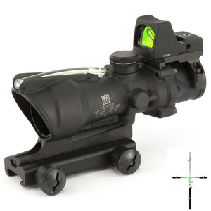 Trijicon 4x32 ACOG Scope, Dual Illuminated Green Crosshair .223 Reticle with Colt Knob Thumbscrew Mount & LED 3.25 MOA Red Dot RMR Type 2