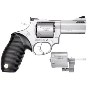 """Taurus Tracker 692 .38 Spl/.357 Mag/9mm Double Action Revolver 3"""" Barrel 7 Rounds Fixed Front Sight/Adjustable Rear Sight Ribber Grip Matte Stainless Finish"""